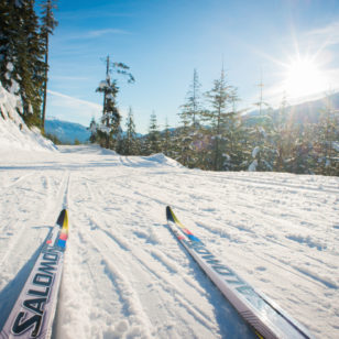Cross country skiing near Vancouver