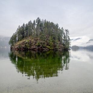 Jug Island in Belcarra Park near Vancouver