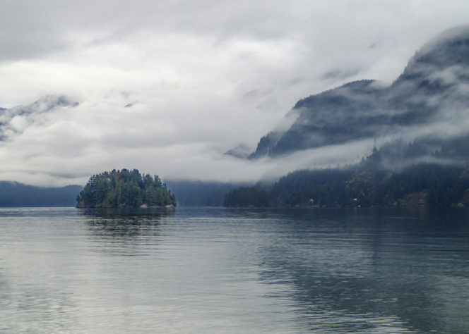 Indian Arm from Jug Island Beach near Vancouver