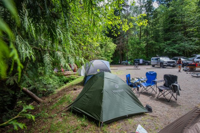 Camping at Alice Lake near Squamish, BC