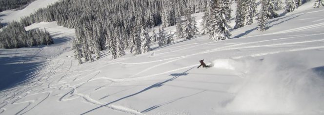 Skier at Manning Park Resort near Vancouver