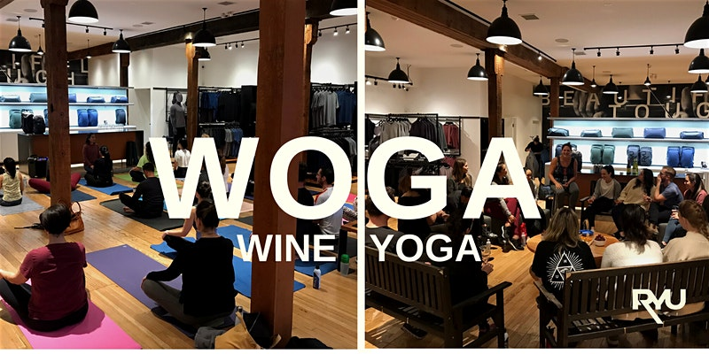wine yoga March wellness