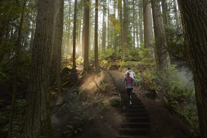 Hikers on Vancouver's North Shore