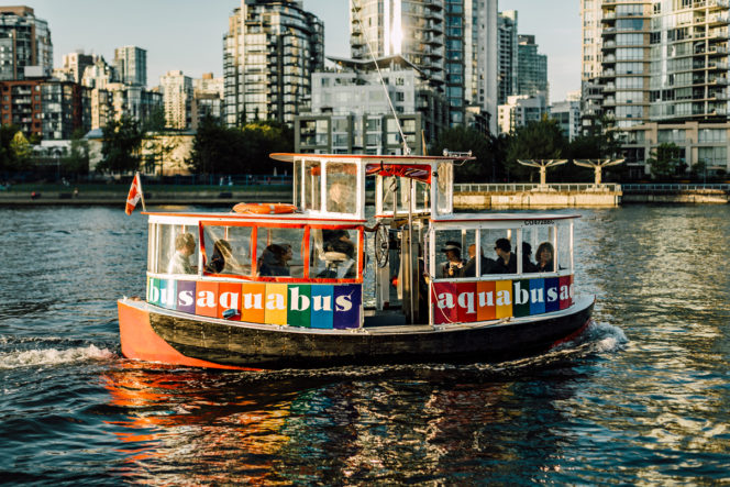 Aquabus Ferry in False Creek in Vancouver