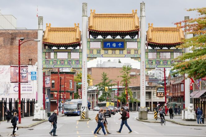 Millenium Gate in Chinatown in Vancouver, BC