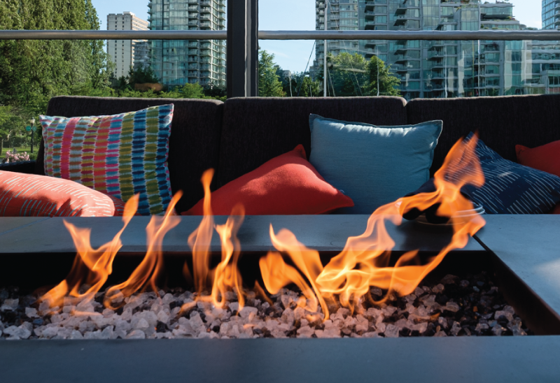 Year round patios Vancouver - The firepit at Lift in Vancouver