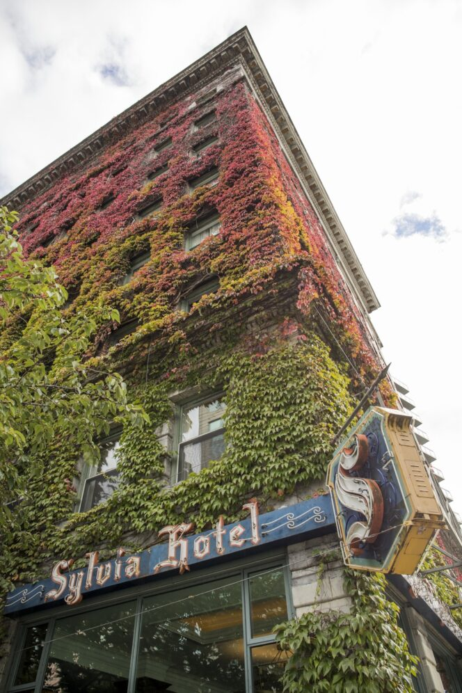 Vancouver's Sylvia Hotel in fall colours
