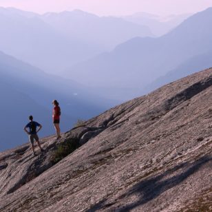 Hikers on the Al's Habrich Ridge Trail at the Sea to Sky Gondola