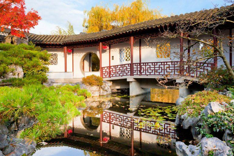 Vancouver's Dr. Sun Yat-Sen Classical Chinese Garden in autumn