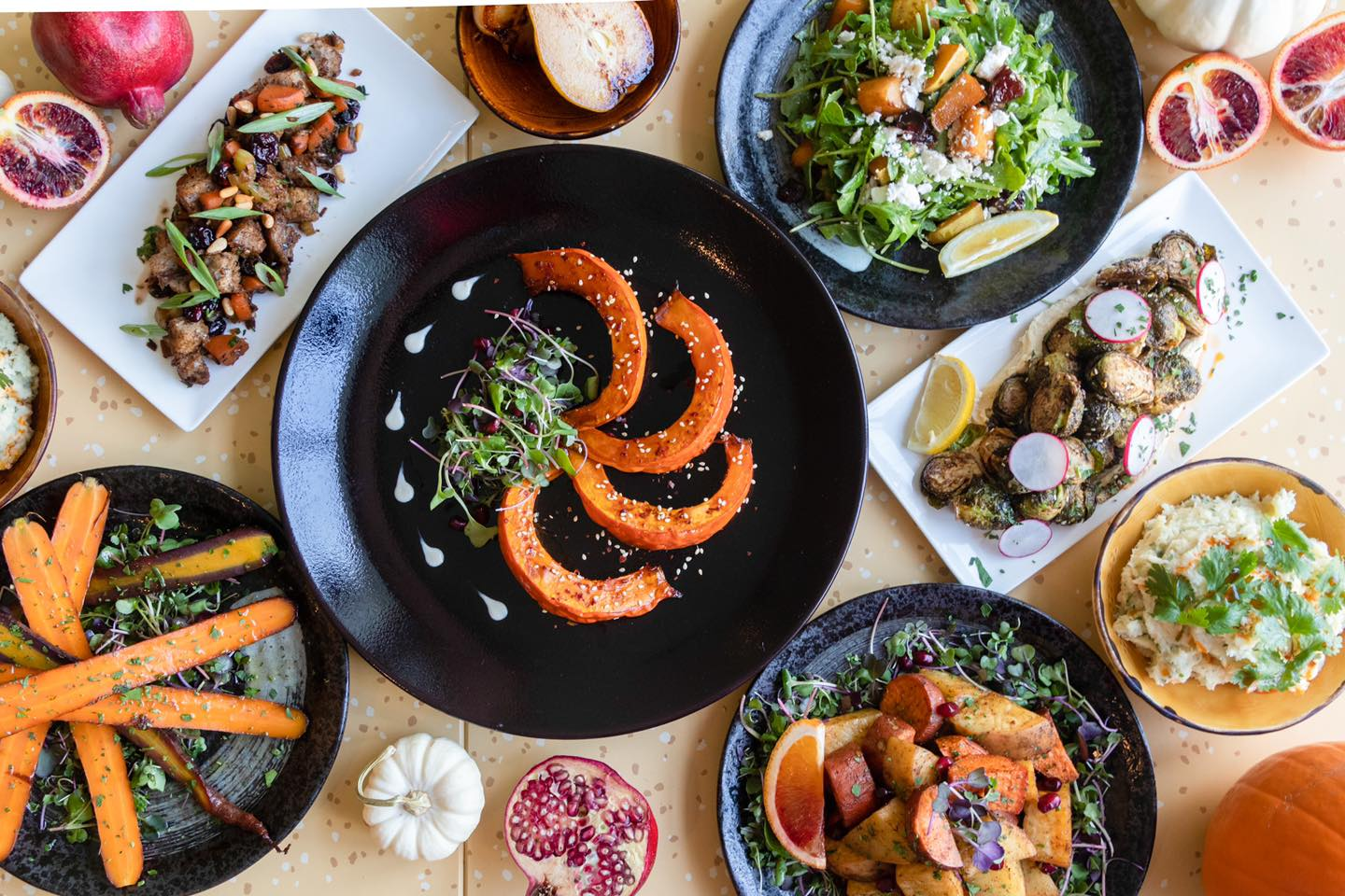Thanksgiving dinner sides from Nuba in Vancouver