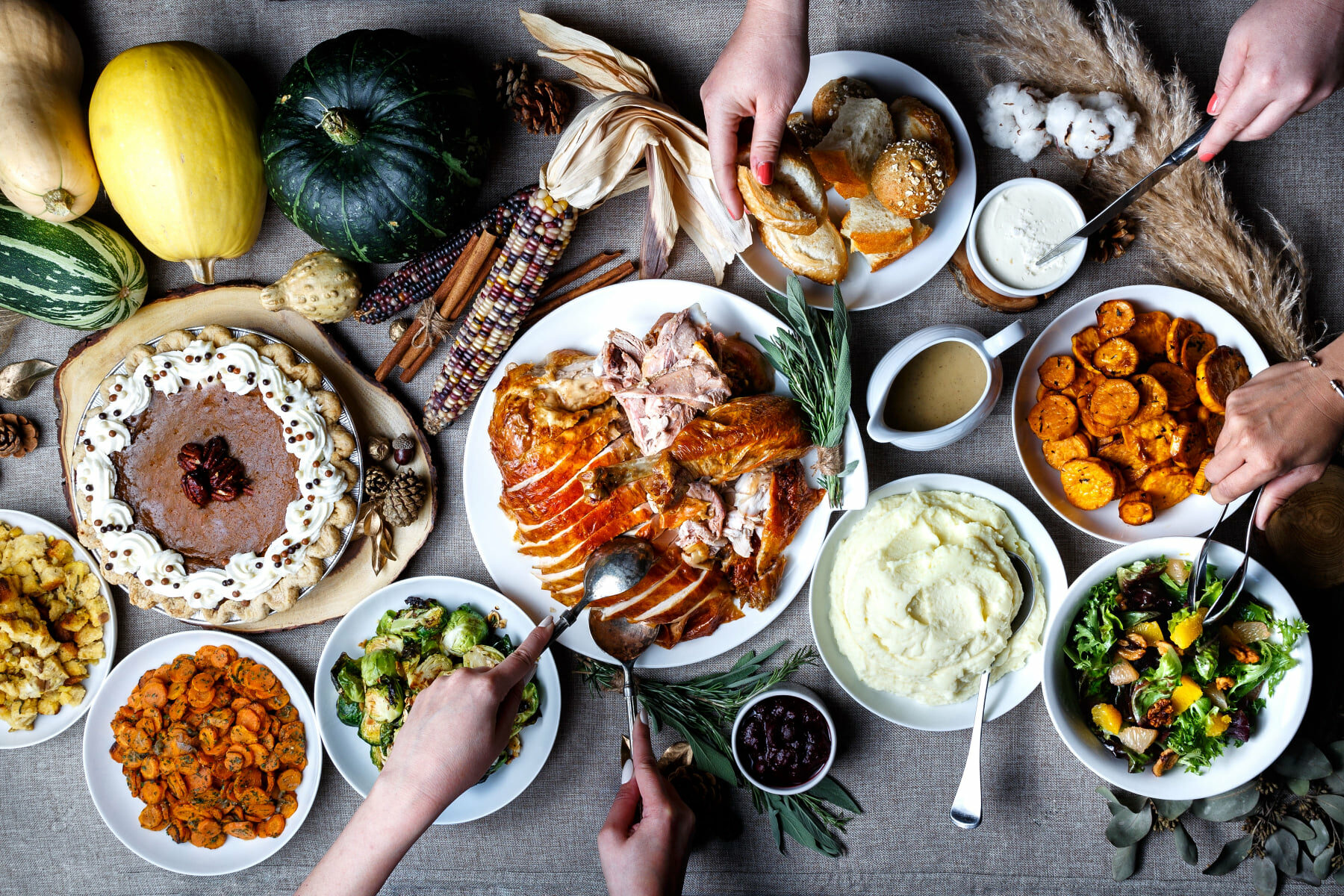 Thanksgiving feast from Railtown catering in Vancouver