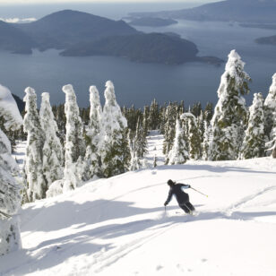 Skier at Cypress Mountain in Vancouver