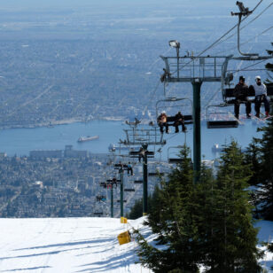 The chairlift at Grouse Mountain in Vancouver