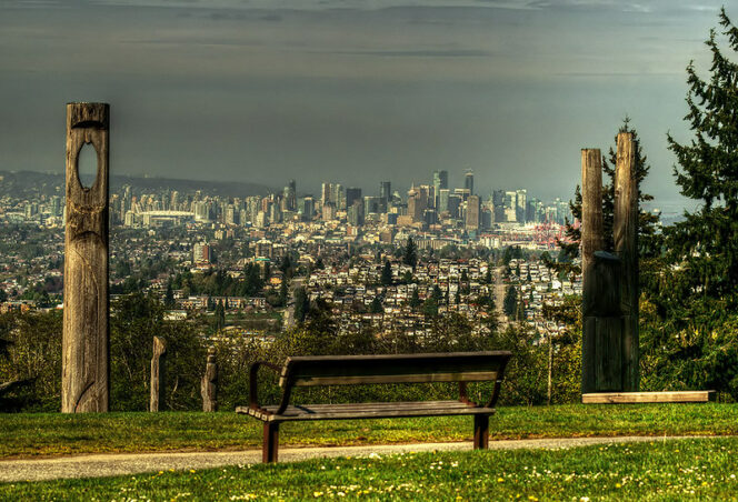 The view of Vancouver from Burnaby Mountain.