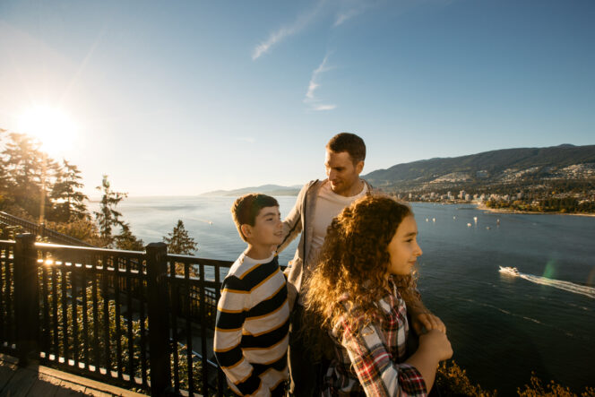 Family at Prospect Point in Stanley Park, Vancouver