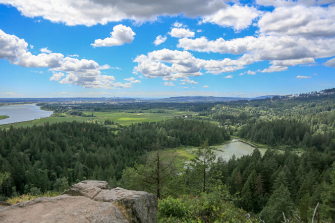 View from High Knoll in Minnekhada Regional Park