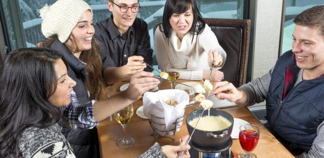 Snowshoe fondue tour on Grouse Mountain