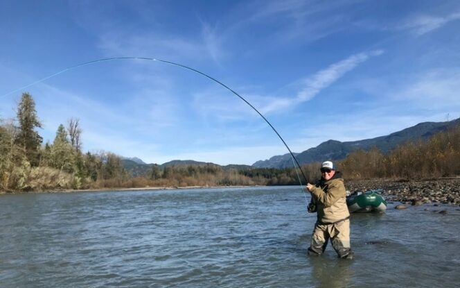 Fly fishing near Vancouver