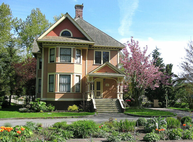 Burrvilla Historic House on Deas Island near Vancouver