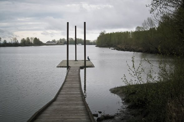 Floating dock on Deas Island near Vancouver