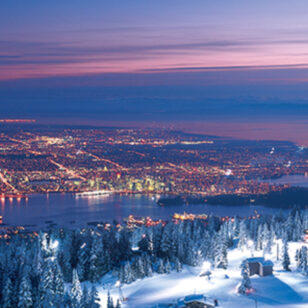 Night skiing at Grouse Mountain near Vancouver