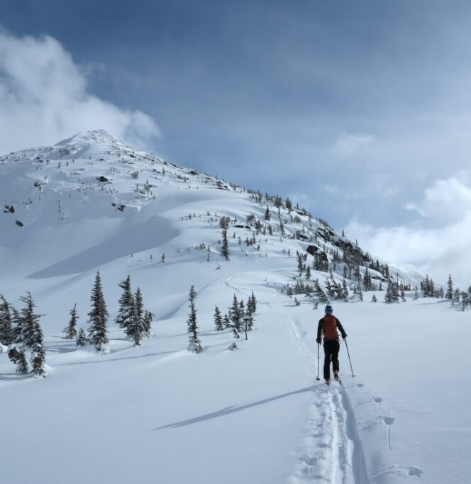 Learning to backcountry ski with Mountain Skills Academy and Adventures near Vancouver