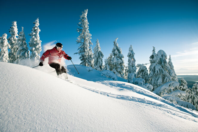 Skier at Grouse Mountain near Vancouver