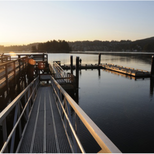 Pier at Belcarra Regional Park at sunset