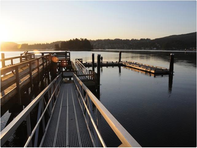 Pier at Belcarra Regional Park at sunset