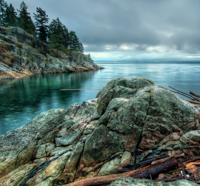 Rocky shoreline at Lighthouse Park
