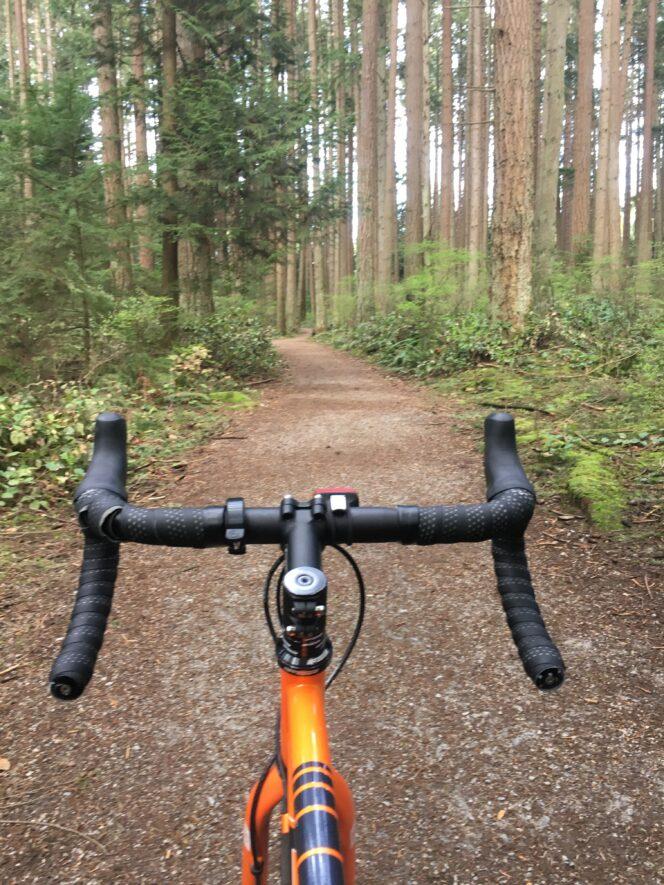 Biking the trails of Pacific Spirit Park