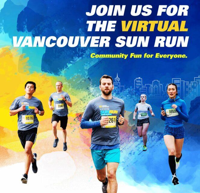 Virtual Vancouver Sun Run event poster