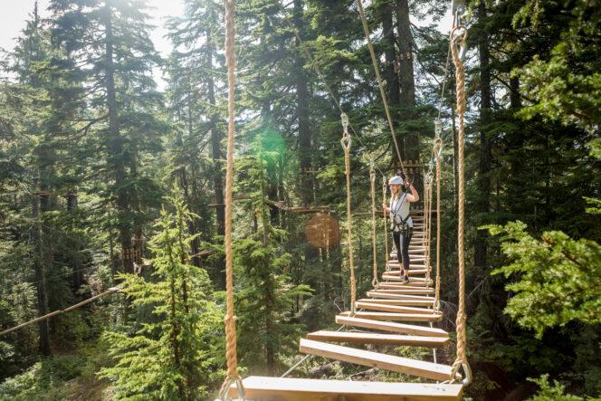 Mountain Ropes Adventure at Grouse Mountain