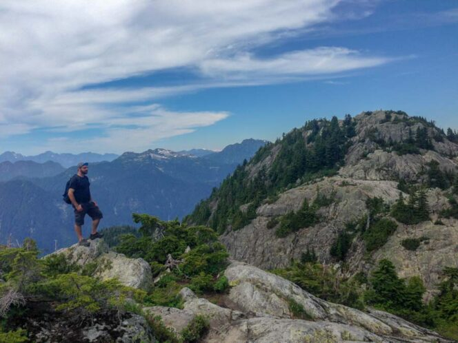 A hiker on Mount Seymour near Vancouver