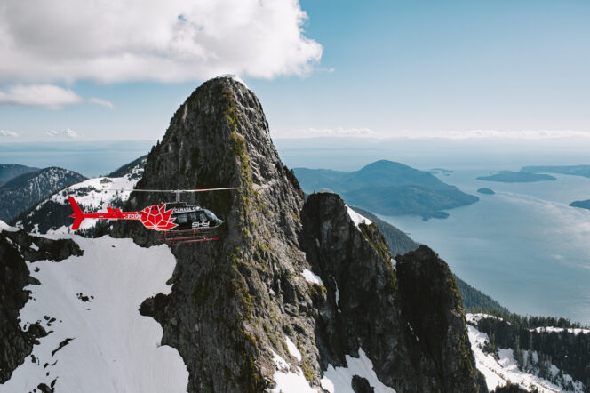 Helicopter tour near Vancouver