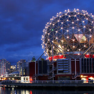 Science world in Vancouver, BC