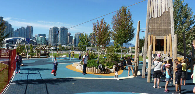 Creekside Park playground Vancouver
