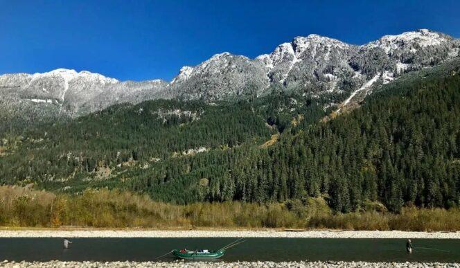 Fly fishing near Squamish