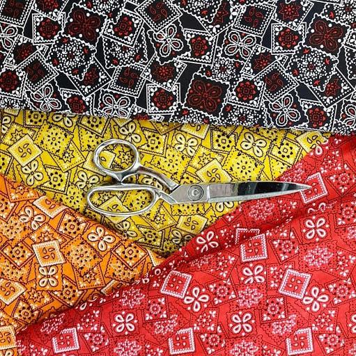 Plenty of colourful fabrics to choose from at Rokko Sarees & Fabrics on Fraser