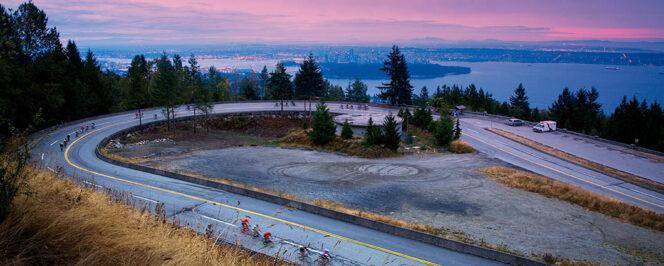 Cyclists on Cypress Mountain in the RBC Gran Fondo