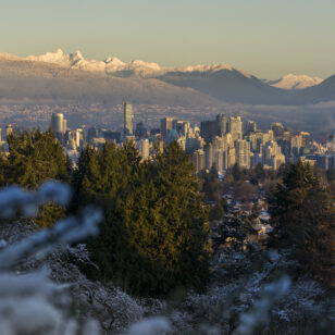 North Shore Mountains from Vancouver