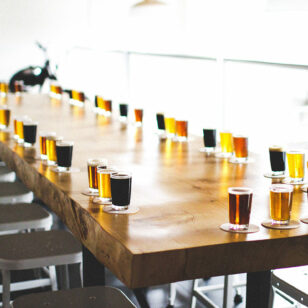 Tasting room at 33 Acres Brewery in the Mount Pleasant neighbourhood of Vancouver