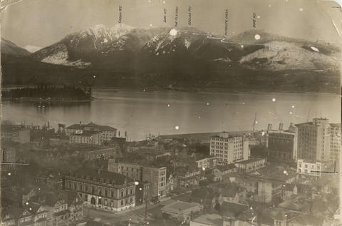 Historical photograph of Grouse Mountain