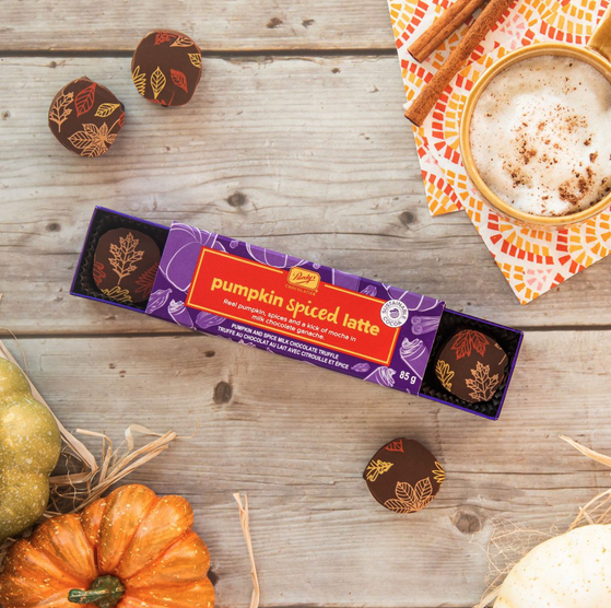 Pumpkin Spice Latte chocolates from Purdy's